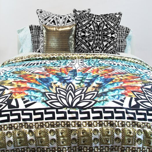 Lorena Gaxiola El Apache Bling Throw Pillow