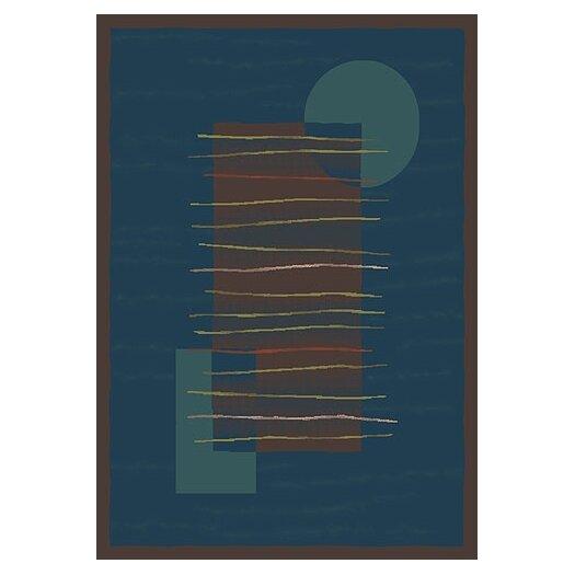 Milliken Pastiche Horizon Blue/Dark Brown Rug