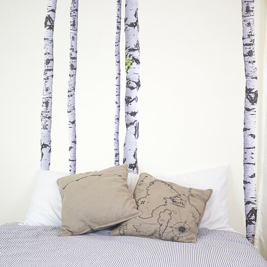 walls need love super real birch wall decal allmodern. Black Bedroom Furniture Sets. Home Design Ideas