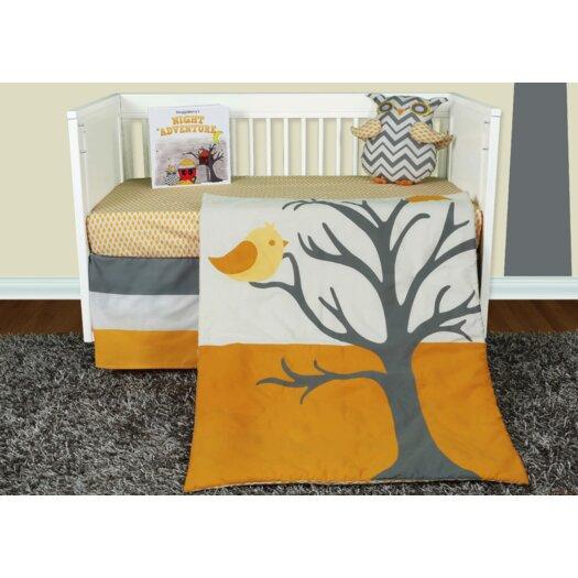 Snuggleberry Baby Nightie Night Owl 5 Piece Crib Bedding Set