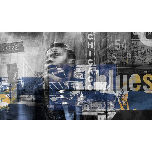 Chicago Blues 2 Graphic Art on Wrapped Canvas