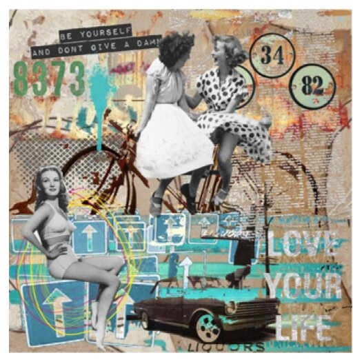 Love Your Life Deco Glass Graphic Art