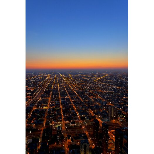 The Air Up Here Chicago Aerial View Photographic Print on Canvas