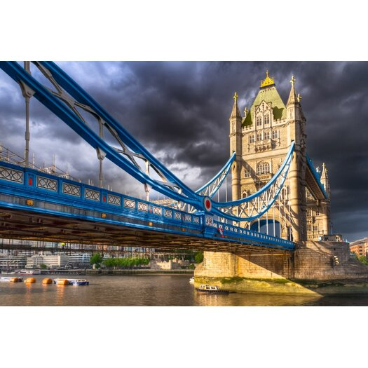Tower Bridge London Landmark Photographic Print on Canvas