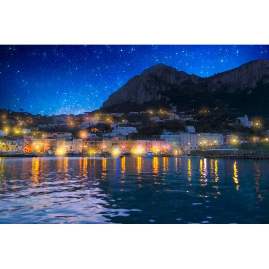 Night Falls on Beautiful Capri-Italy Photographic Print