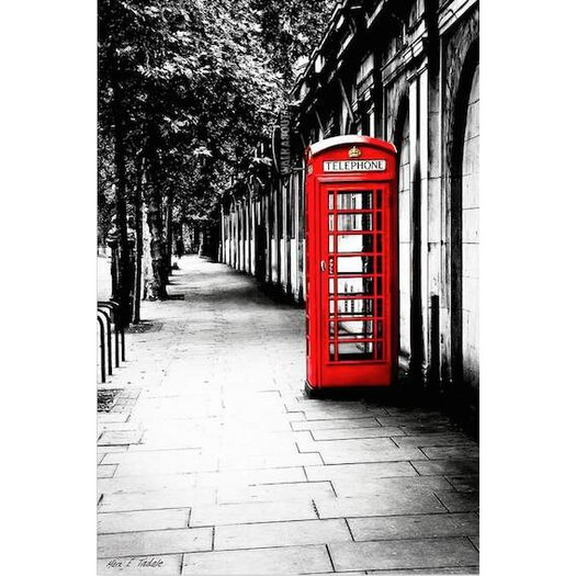 London Calling - Red Telephone Box Photographic Print on Canvas