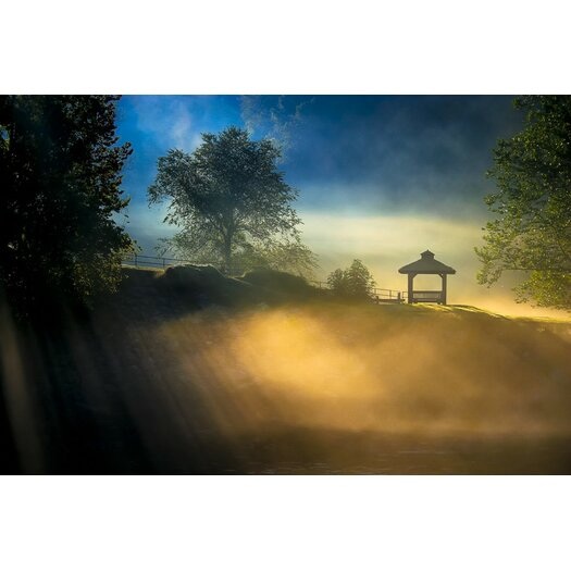 Misty Morning in Chattahoochee Photographic Print on Canvas