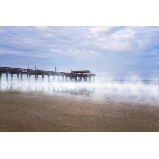 Misty Waters Around Tybee Island Pier Photographic Print