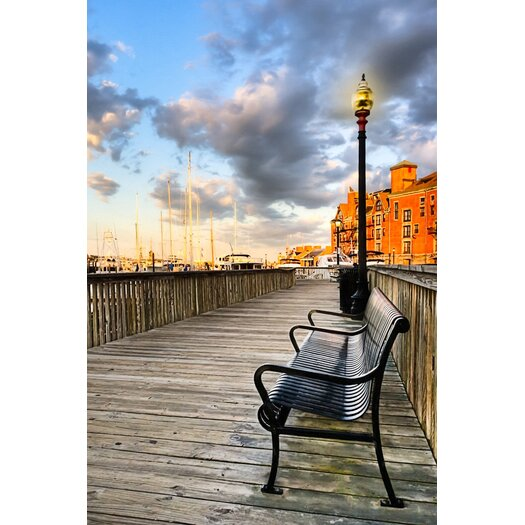 Relax and Watch the Sunset in Boston Photographic Print on Canvas
