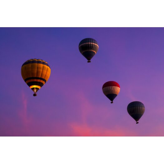 Hot Air Balloons Floating Over Egypt Frame Photographic Print