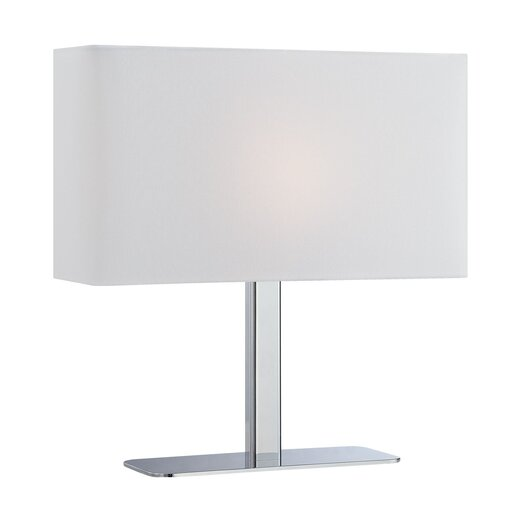 Lite Source Levon 15'' H Table Lamp with Rectangular Shade