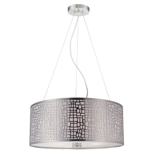 Lite Source Torre 3 Light Drum Pendant