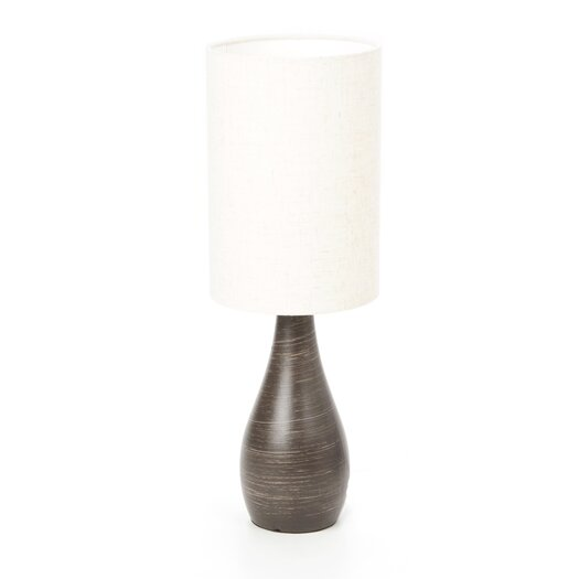 """Lite Source Quatro Mini Tapered 17.5"""" H Table Lamp with Drum Shade"""