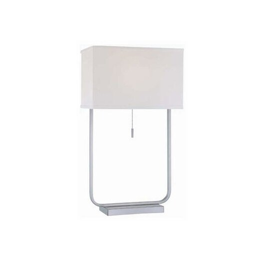 """Lite Source Gazit 22.5"""" H Table Lamp with Rectangular Shade"""
