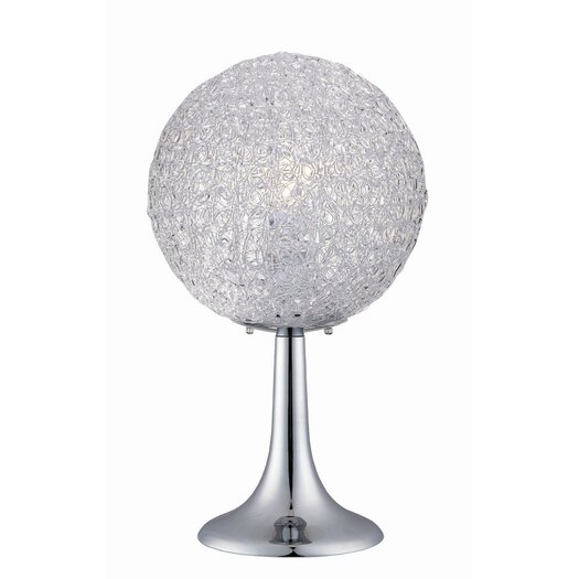 """Lite Source Icy 20"""" H Table Lamp with Sphere Shade"""
