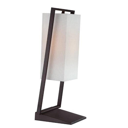 "Lite Source Branko 21.5"" H Table Lamp with Rectangular Shade"