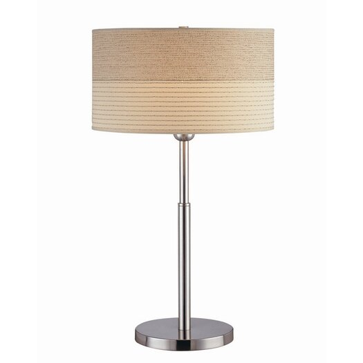 """Lite Source Relaxar 26"""" H Table Lamp with Drum Shade"""