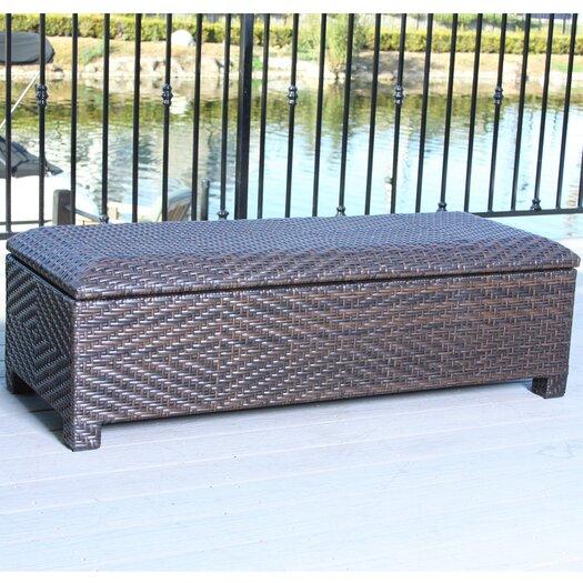 Home Loft Concepts Casarano Wicker Storage Bench