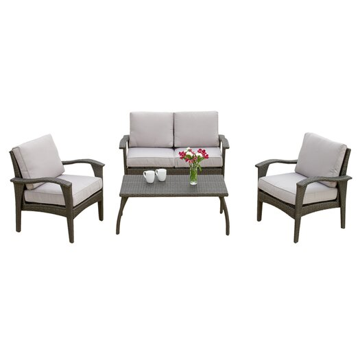 Home Loft Concept Biddeford 4 Piece Seating Group In Gray