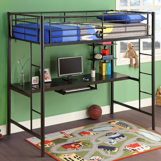 Home Loft Concepts Twin Workstation Loft Bed with Desk
