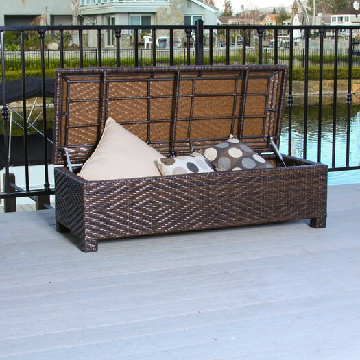 Home Loft Concepts Casarano 30 Gallon Wicker Storage Bench