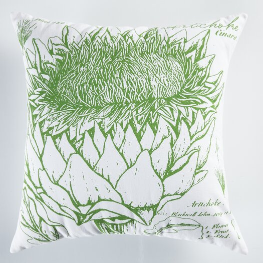 Koko Company Uruli Artichoke Cotton Throw Pillow