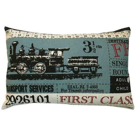 Koko Company Ticket Cotton Lumbar Pillow