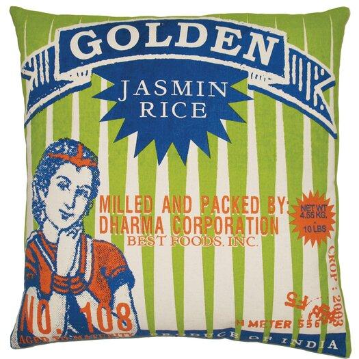 Koko Company Rice Cotton Throw Pillow