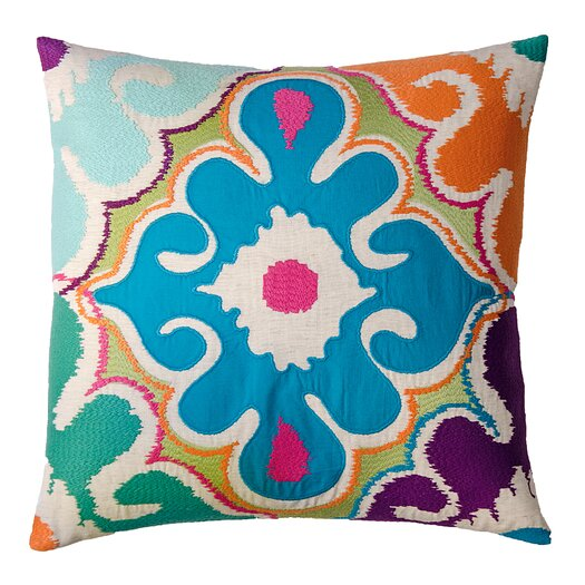 Koko Company Totem Floral Cotton Throw Pillow