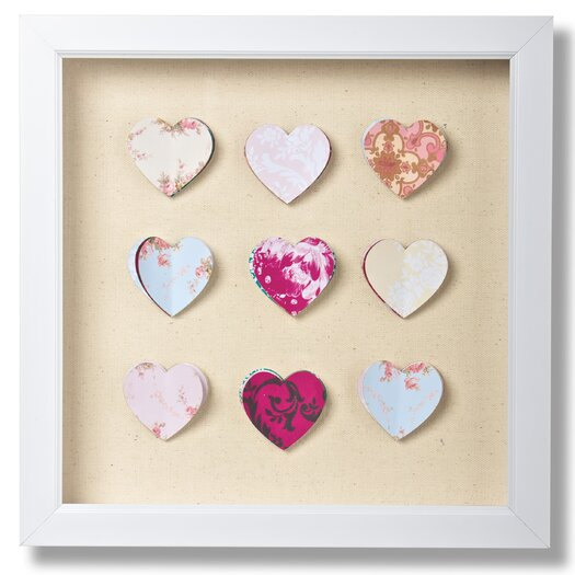 Graham & Brown Hearts Corsage Framed Graphic Art