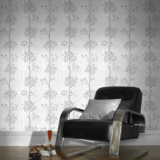 "Graham & Brown Domaniale Paillette 33' x 20"" Floral and Botanical Wallpaper"