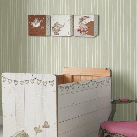 "Graham & Brown Eleflump Candy 33' x 20"" Stripe Wallpaper"