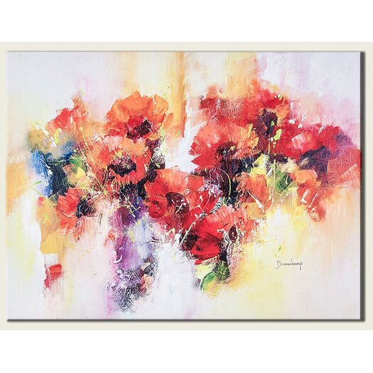 Flora Painting Print on Canvas