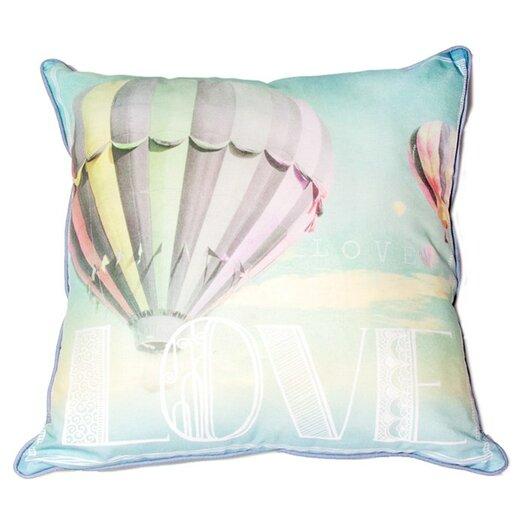 Air Balloon Cotton Throw Pillow