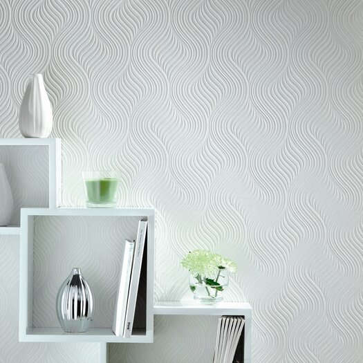 "Graham & Brown Paintable 33' x 20.5"" Embossed Wallpaper"