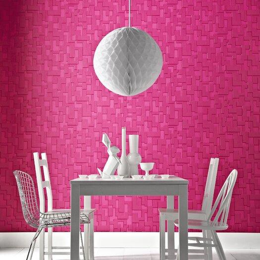 "Graham & Brown Odyssey Checker 32.8' x 20.5"" Geometric Embossed Wallpaper"