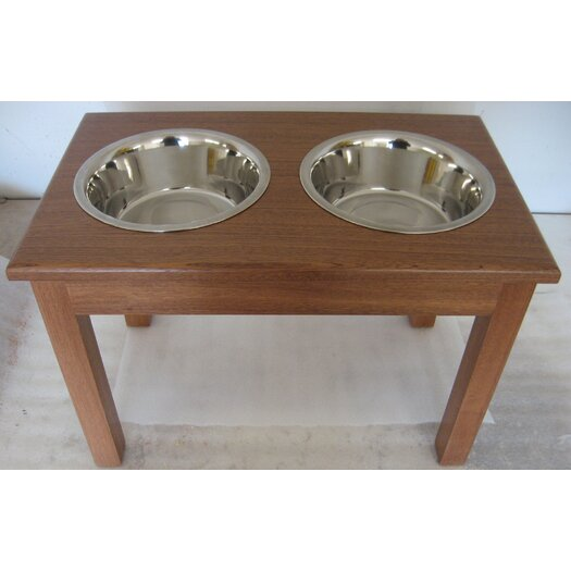 Classic Pet Beds 2-Bowl Traditional Style Pet Diner