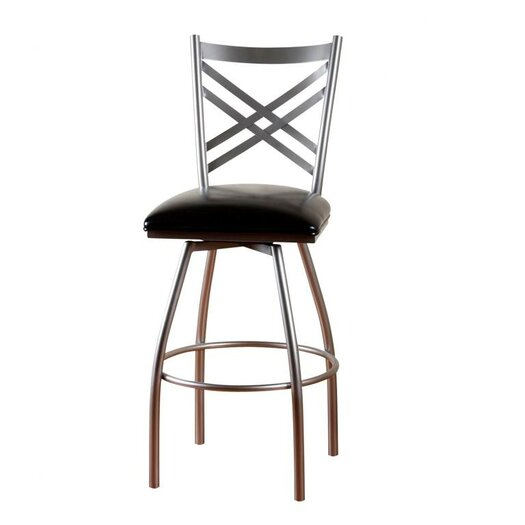 "American Heritage Alexander 30"" Swivel Bar Stool with Cushion"
