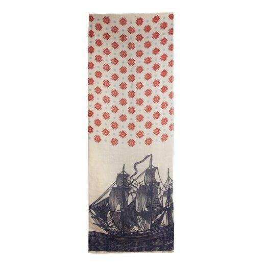 Vineyard Ship Linen Scarf