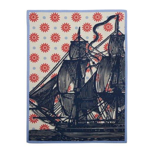 Vineyard Ship Tea Towel