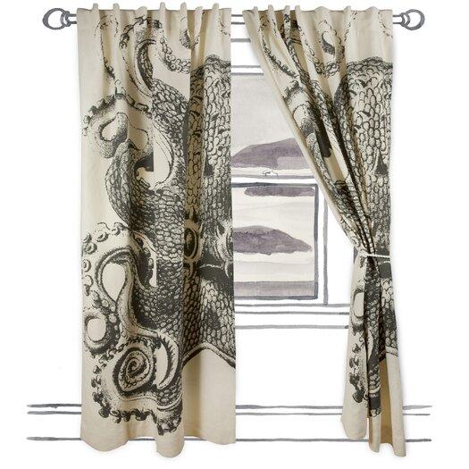 Thomas Paul Octopus Single Curtain Panel