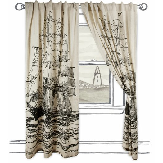 Thomas Paul Maritime Single Panel Window Curtain