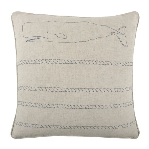 Whale Rope Throw Pillow