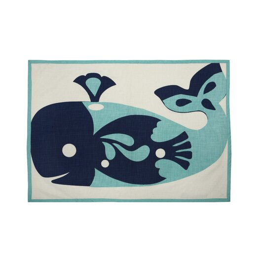 Thomas Paul Whale Tea Towel