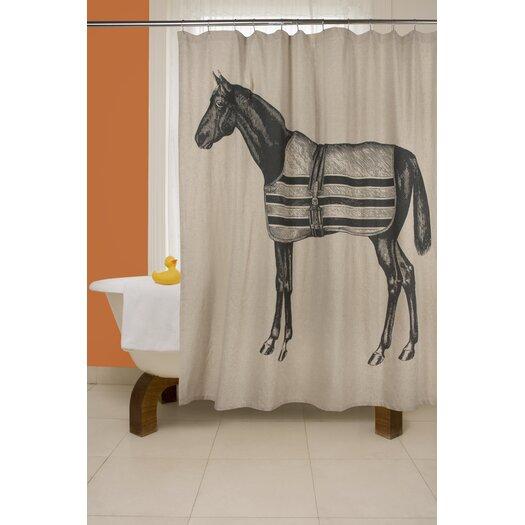 Thomas Paul Equestrian Flax Shower Curtain Allmodern