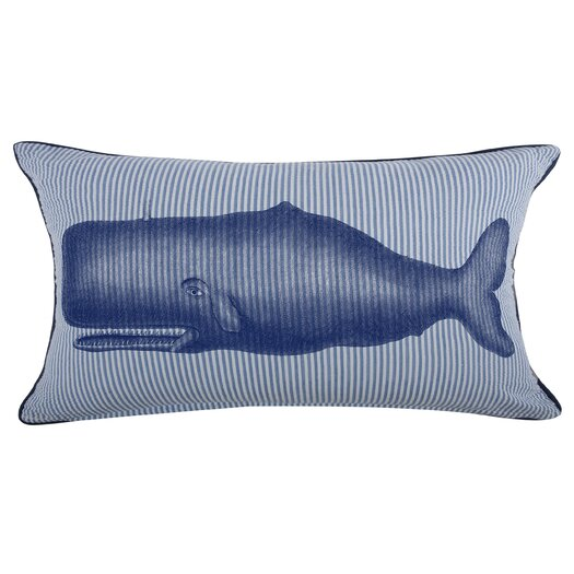 Thomas Paul Moby Seersucker Cotton Lumbar Pillow