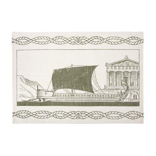 Grecian Ship Tea Towel