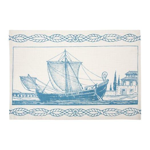 Roman Ship Tea Towel