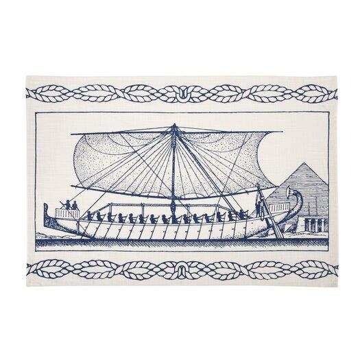 Egyptian Ship Tea Towel