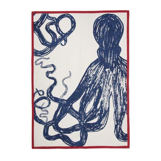 Octopus Sketch Tea Towel